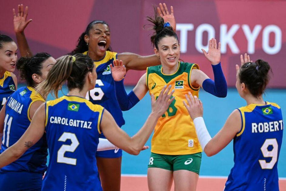 BRAZILKE SLAVILE POSLE PREOKRETA: Odbojkašice Brazila u polufinalu OI! Srbija saznale sve rivale u borbi za medalju!