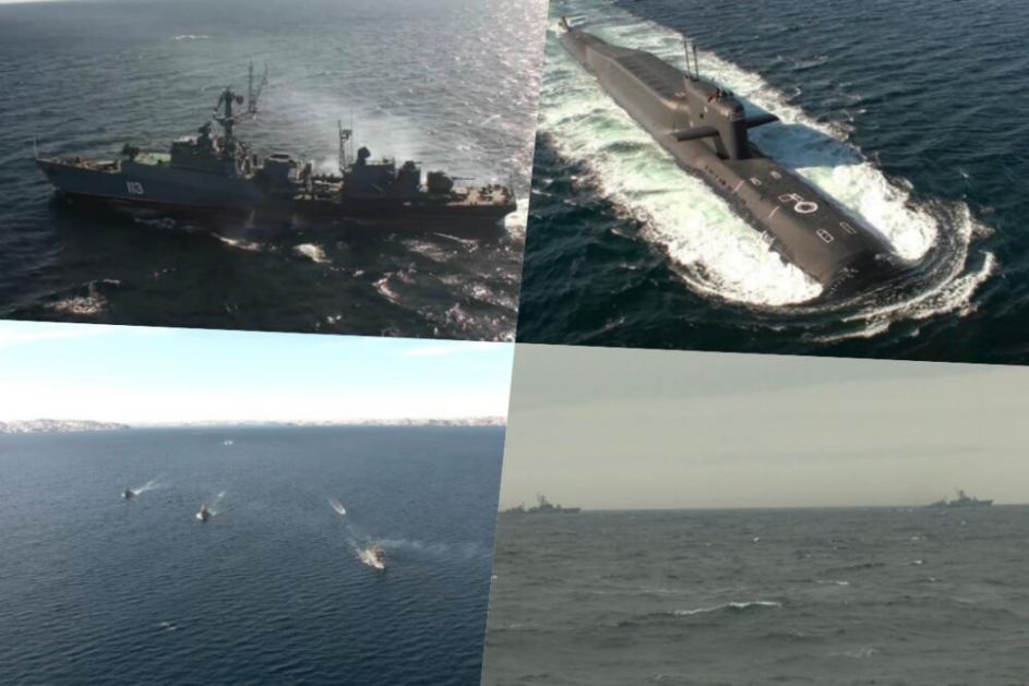 BRODOVI I PODMORNICE SEVERNE FLOTE ISPLOVILI PREMA ARKTIKU: Izdato naređenje zauzeti pozicije na otvorenom moru! VIDEO