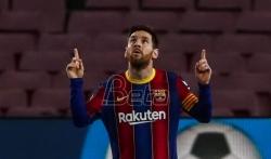 Barselona sigurna protiv Elčea, Mesi dvostruki strelac
