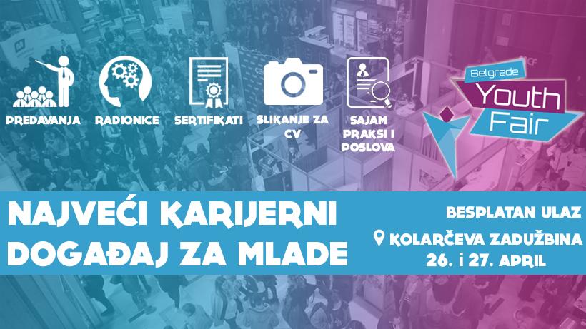 Belgrade Youth Fair 2018: Najveći sajam za mlade u regionu, 26. i 27. aprila u Beogradu