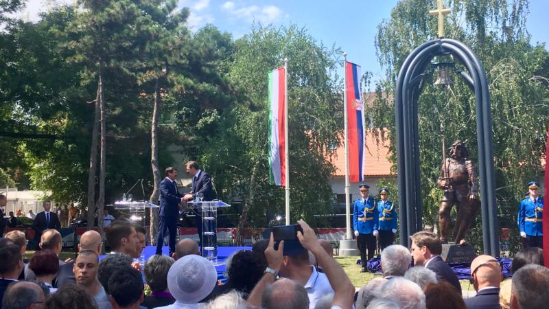 Beograd: Predsednici Srbije i Mađarske otkrili spomenik Sibinjanin Janku