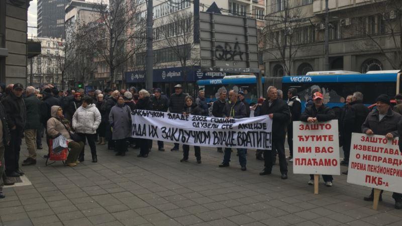 Beograd: Protest bivših radnika PKB-a ispred Predsedništva