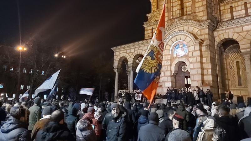 Beograd: Skup podrške SPC-u zbog Crne Gore