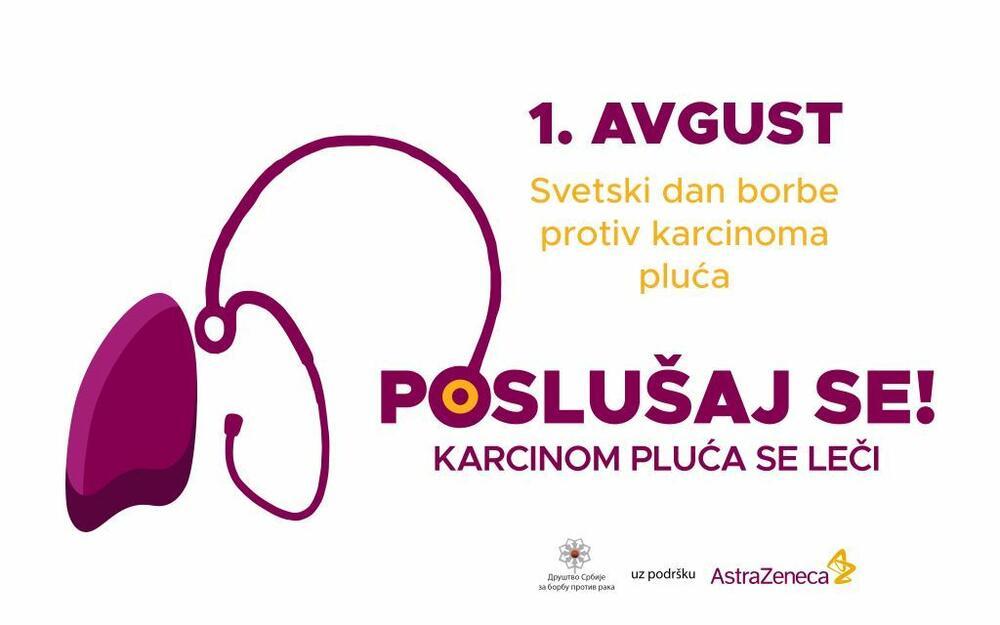Beograd je sinoć sijao u bojama kampanje podizanja svesti o karcinomu pluća – prvom najzastupljenijem malignitetu u Srbiji