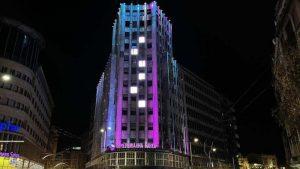 Beograd u bojama koje simbolišu Međunarodni dan obolelih od retkih bolesti