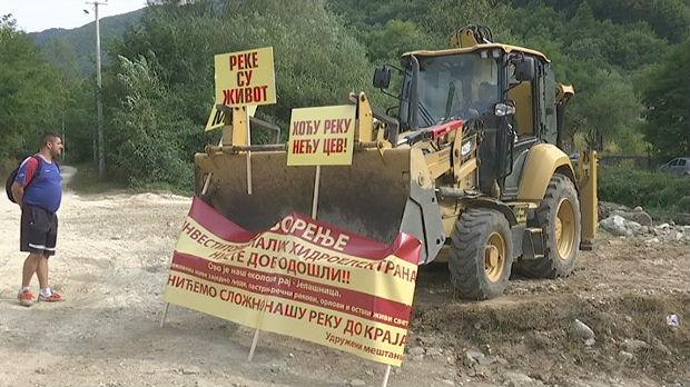 Blokada puta ka Kopaoniku zbog izgradnje miihindroelektrane