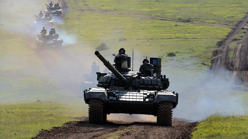"""Borbena dejstva tenkova T-72MS na vežbi """"Munjeviti udar 2021"""""""