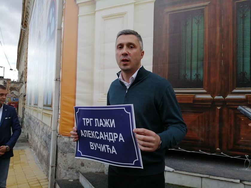"""Boško Obradović u kampanji """"Bojkot"""" u Vranju"""