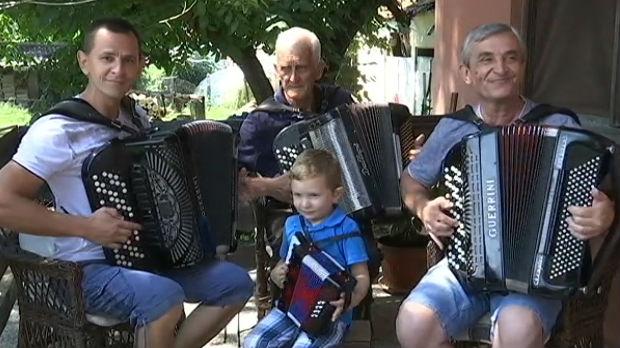 Bošnjane, selo harmonikaša