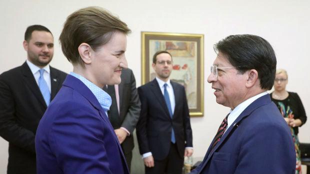 Brnabić: Prijateljstvo sa Nikaragvom osnov za produbljivanje ekonomskih odnosa