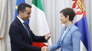 Brnabić i Luiđi di Majo: Bez jake Italije ni Srbija ne može biti jaka