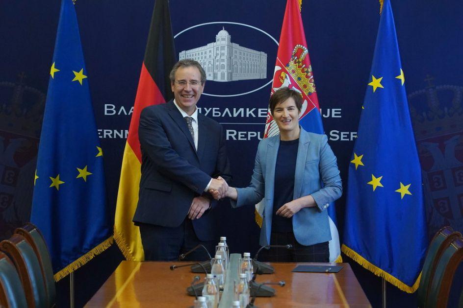 Brnabić sa državnim sekretarom nemačkog Ministarstva spoljnih poslova