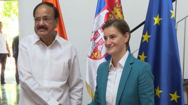 Brnabićeva sa Naiduom: Želimo još bolju ekonomsku saradnju