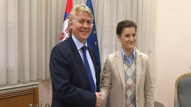 Brnabićeva sa ambasadorom Norveške