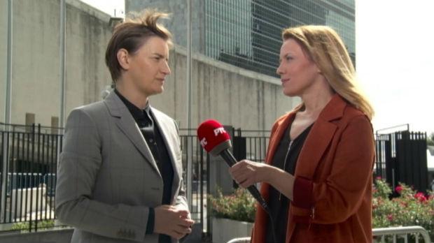 Brnabićeva za RTS: U govoru pred Generalnom skupštinom UN pokazaću novo lice Srbije