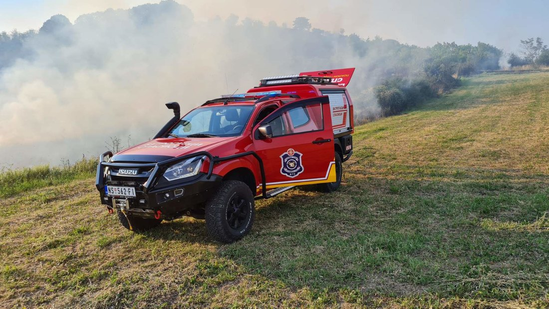 Brzo ugašen požar na Fruškoj Gori