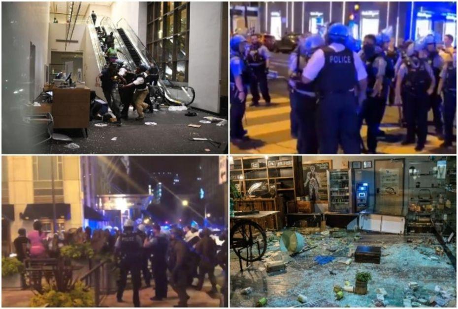 ČIKAGO KAO RATNA ZONA: Horde pljačkaša lome sve pred sobom, sukobi sa policijom, uvodi se policijski čas (VIDEO)