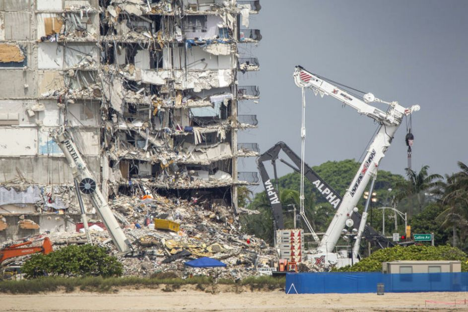 CRNI BILANS! U urušavanju zgrade u Majamiju 97 MRTVIH, završena potraga za nastradalima