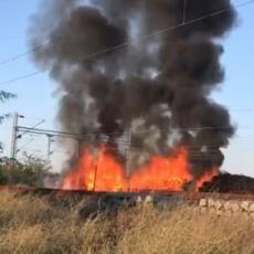 CRNI OBLAK IZNAD KUMANOVA: Zbog velikog požara saobraćaj između Srbije i Severne Makedonije U PREKIDU! (VIDEO)
