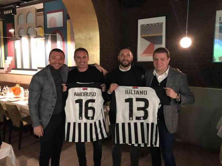 CRNO-BELI STIGLI DO MILANA: Partizanovi direktori na večeri sa legendarnim italijanskim fudbalerima (FOTO)