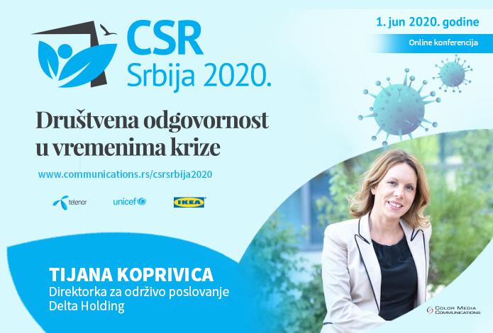 CSR SRBIJA 2020: Tijana Koprivica – Briga o zaposlenima je u ovom trenutku veoma važan deo CSR-a