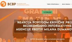 Centar za bezbednosnu politiku: Prijava BIA protiv Dumanovića je zastrašivanje