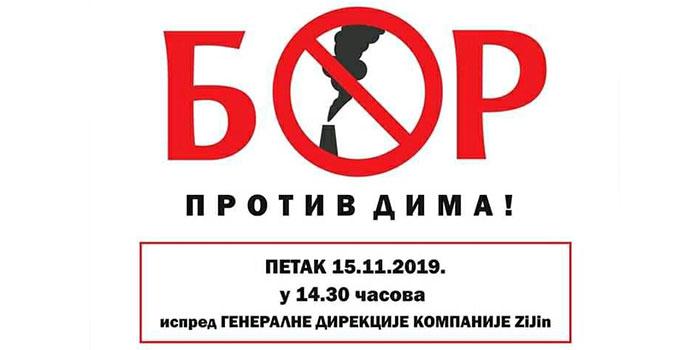 Četvrti protest protiv zagađenja u petak ispred direkcije Ziđina u Boru