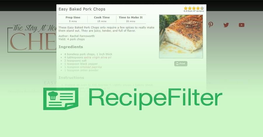 Chrome dodatak koji detektuje recepte na veb stranicama