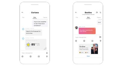 Cortana odgovara na vaša pitanja u Skype chatu