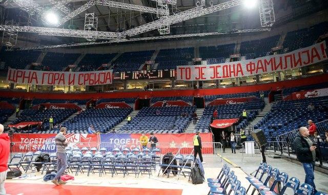 Crna Gora i Srbija, to je jedna familija - navijači Zvezde uputili poruku pred početak utakmice FOTO