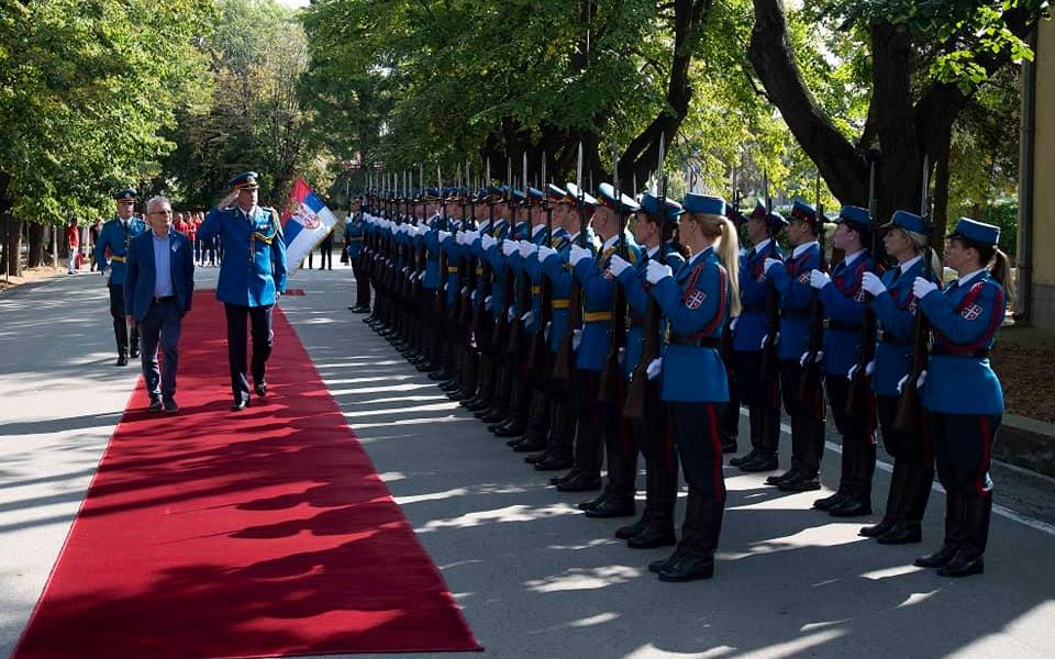 Crveno-beli na prijemu u Vojsci Srbije