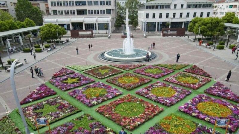 Cvjetni tepih u centru Podgorice povodom Dana Evrope