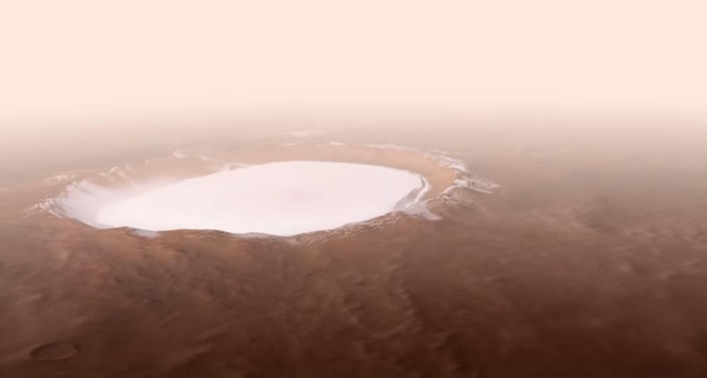 DA LI JE OVO DOKAZ DA ĆEMO MOĆI DA ŽIVIMO NA MARSU: Moćan snimak kratera punog leda, evo šta se krije iza njegovog imena