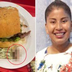DA TI SE ŽELUDAC PREVRNE: Žena je zagrizla hamburger, a ONO ŠTO JE U NJEMU NAŠLA sve je zgrozilo!