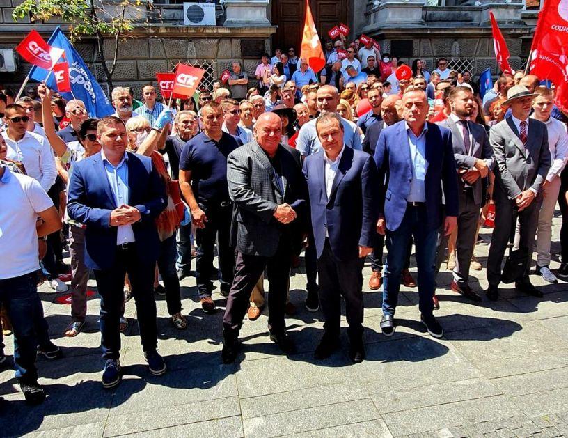DAČIĆ I PALMA U ZEMUNU: Politička stabilnost koju smo stvorili preduslov da Srbija može da rešava najvažnija pitanja