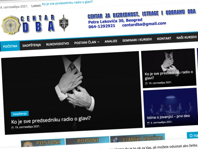 DBA: Nikola Sotirovski je i naš član, ne radimo za SNS