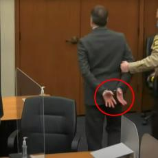 DETALJ SA SUĐENJA KOJI JE SVIMA UPAO U OČI: Šta je osuđenom policajcu za ubistvo Flojda pisalo na dlanu?
