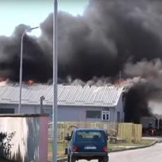 DETONACIJE ODJEKUJU PANČEVOM: Ogroman požar zahvatio BENZINSKU PUMPU, putevi su BLOKIRANI (VIDEO)