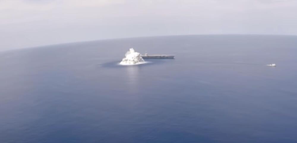 DETONIRALI EKSPLOZIV I IZAZVALI ZEMLJOTRES: Američka mornarica testirala nosač aviona, aktivirali 20 tona eksploziva VIDEO