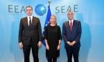 DIJALOG BEOGRADA I PRIŠTINE: Završen sastanak Vučića, Mogerini i Tačija u Briselu