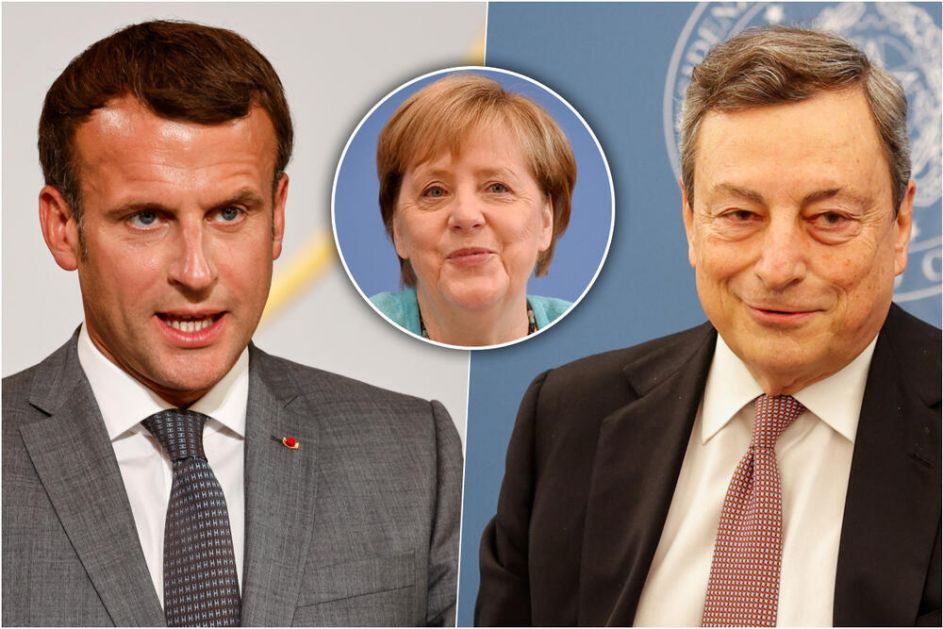 DOK ANGELA ODLAZI, NOVI DUET SE SPREMA NA SCENI EU...Makron i Dragi spremaju novi post Merkel savez! traže smeliju i bržu Uniju