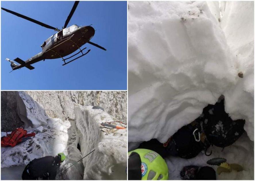 DOK SE MI MUČIMO NA SUNCU, SLOVENCA ZATRPAO SNEG, I TO OD GLAVE DO PETE: Dignut i helikopter, sve se dobro završilo! FOTO