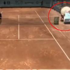 DRAMA NA MEČU SRBINA: Sudijska stolica pala na skupljača loptica (VIDEO)