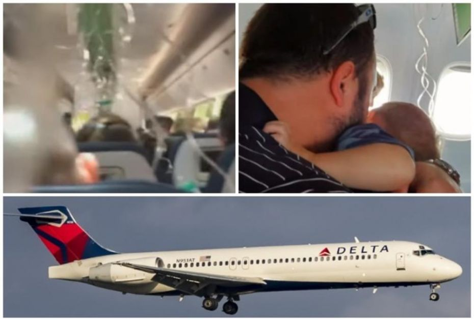 DRAMA U AVIONU DELTA ERLAJNZA! Za 7 minuta propao 9.000 metara! Maske poispadale, očajni putnici bespomoćno vrištali od straha i grlili decu dok su se strmoglavljivali ka zemlji! (VIDEO)