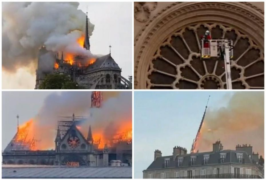 DRAMATIČNI SNIMCI IZ PARIZA: Gori čuvena katedrala Notr Dam, vatra guta sve pred sobom, KROV SE URUŠIO! (VIDEO, FOTO)