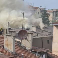 DVOJICA VATROGASACA PREBAČENI NA VMA: Traje borba sa požarom na Lionu, stanari BEZBEDNI (VIDEO)