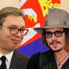 DŽONI, NEKA JE SA SREĆOM! Vučić poslao poruku ČUVENOM HOLIVUDSKOM GLUMCU, evo šta je POVOD