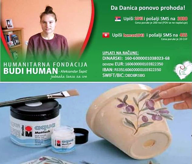 Da Danica ponovo prohoda: Humanitarna dekupaž radionica