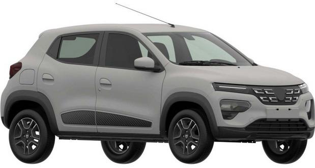 Dacia Spring na patentnim slikama