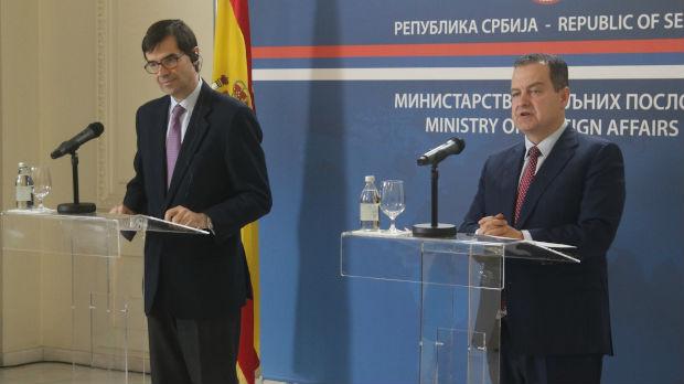 Dačić: Španija ima čvrst stav i ne prihvata jednostrane akte